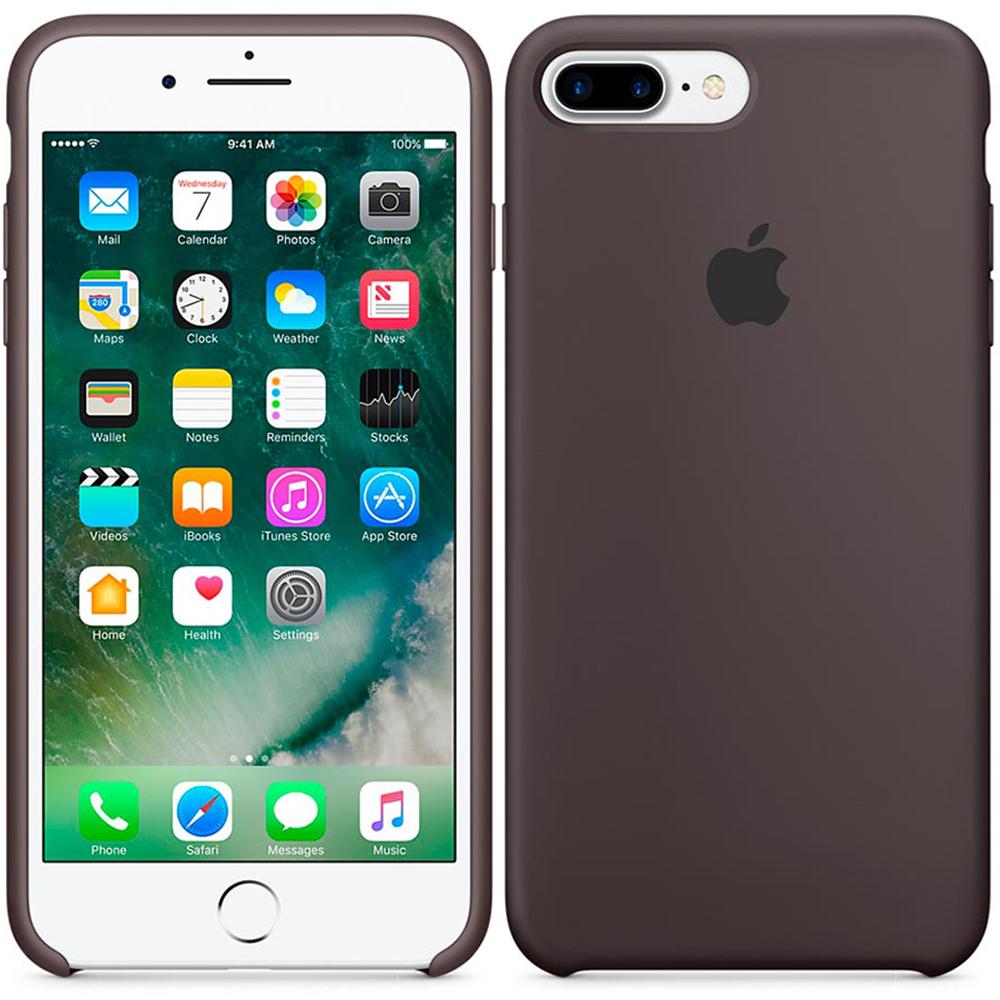 Чехол Apple Silicone Case iPhone 7, iPhone 8 Chocolate_HC