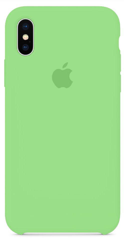 Чехол Apple Silicone Case iPhone X Green_HC