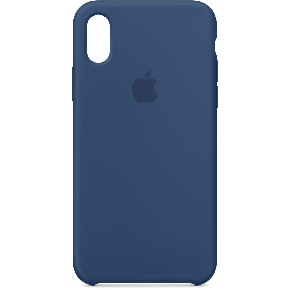 Чехол Apple Silicone Case iPhone X Midnight Blue_HC