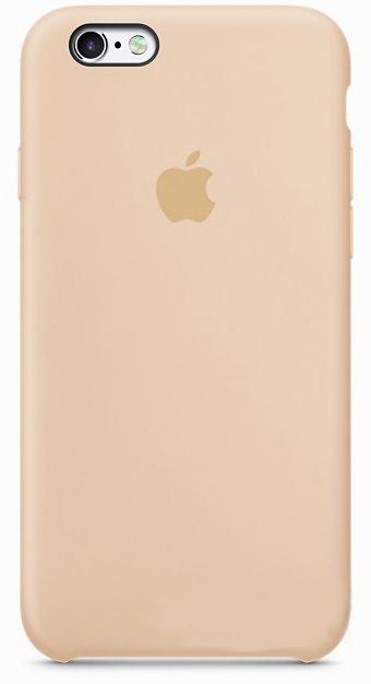 Чехол Apple Silicon Case iPhone 6, iPhone 6S Beige_HC