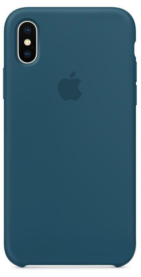 Чехол Apple Silicone Case iPhone X Cosmos Blue (MR6G2)