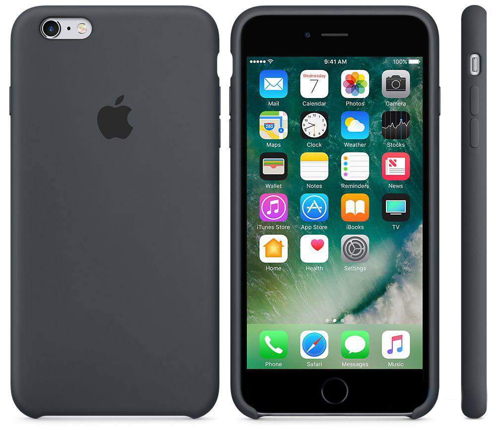 Чехол Apple Silicone Case iPhone 6 Plus, iPhone 6S Plus Space Gray_HC