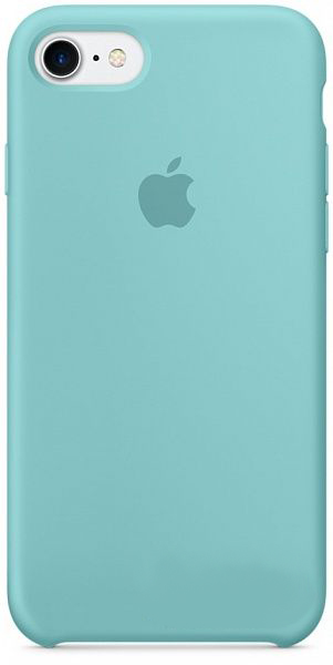Чехол Apple Silicone Case Apple iPhone 7 Sea Blue (MMX02)