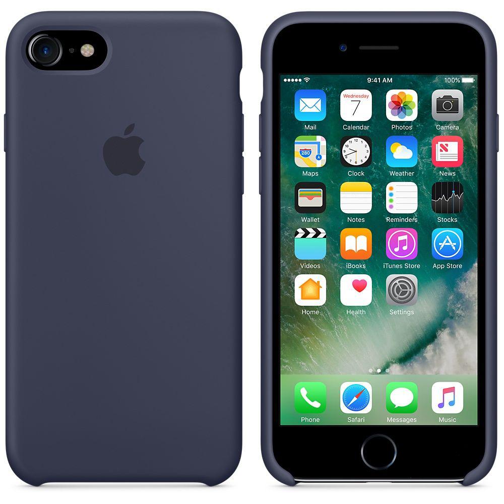 Чехол Apple Silicone Case iPhone 7 Midnight Blue (MMWK2)
