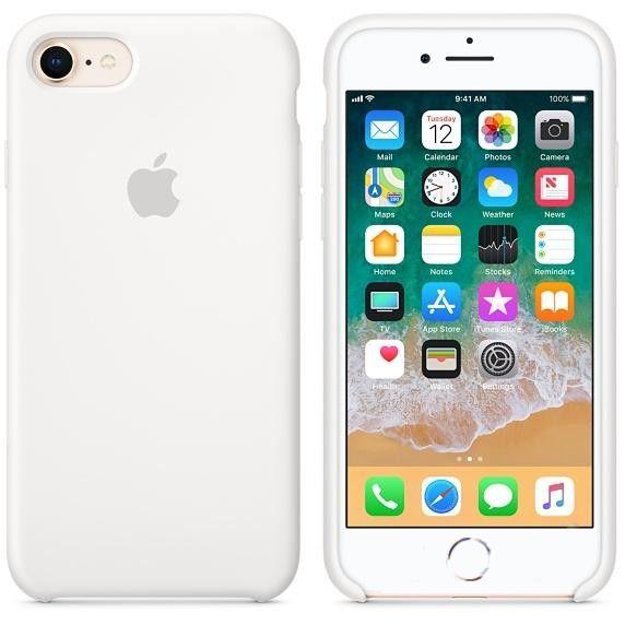 Чехол Apple iPhone 8, iPhone 7 Silicone Case White (MQGL2)