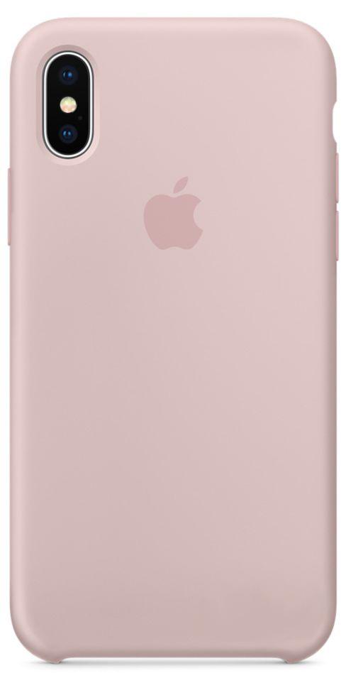 Чехол Apple Silicone Case iPhone X Pink Sand (MQT62)