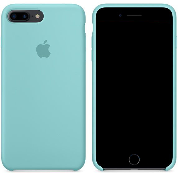 Чехол Apple Silicone Case iPhone 7 Plus, iPhone 8 Plus Sea Blue_HC