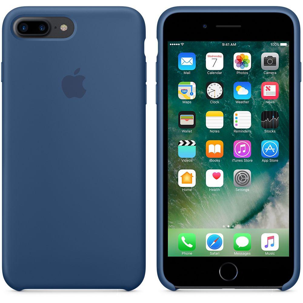 Чехол Apple Silicone Case iPhone 7 Plus, iPhone 8 Plus Ocean Blue (MMQX2_HC)