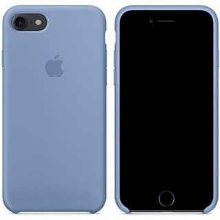 Чехол Apple Silicone Case iPhone 7, iPhone 8 Azure (MQ0J2)