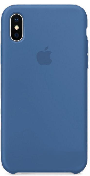 Чехол Apple Silicone Case iPhone X Blue_HC