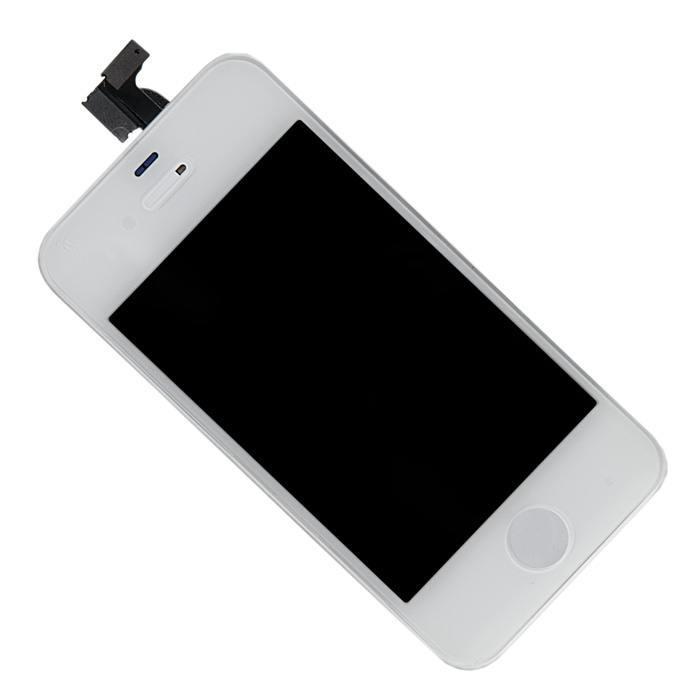 Дисплей iPhone 4S белый (LCD экран, тачскрин, стекло в сборе) high copy