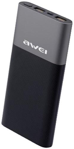Внешний аккумулятор (Power Bank) Awei P53K 10000 mAh Black
