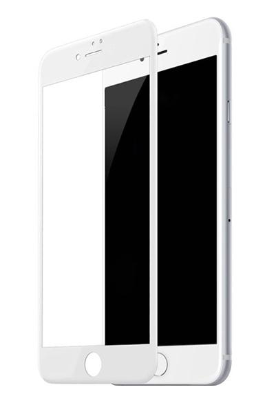 Защитное стекло дисплея iPhone 8 белое (0.3 мм, 4D)