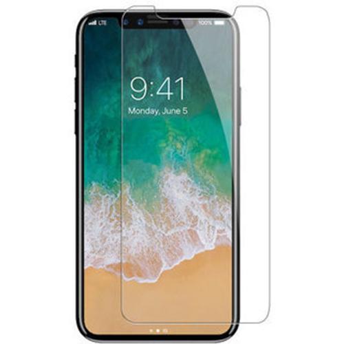 Защитное стекло дисплея iPhone X белое (0.3 мм, 4D)