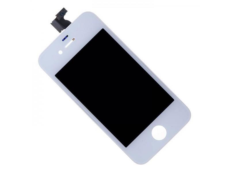 Дисплей iPhone 4 белый (LCD экран, тачскрин, стекло в сборе) high copy