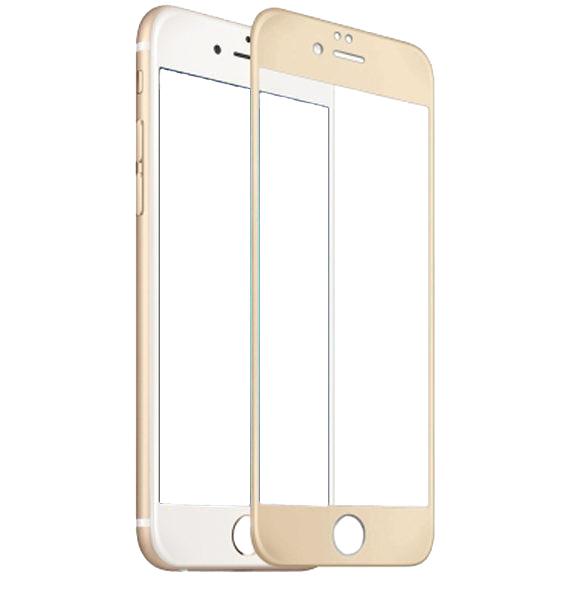 Защитное стекло дисплея iPhone 6/ 6S золотистое (0.3 мм, 3D) с покрытием Silk Screen