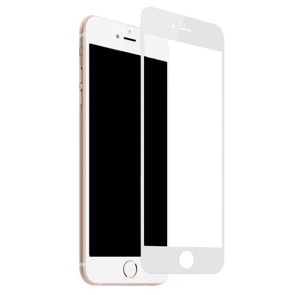 Защитное стекло дисплея iPhone 6/ 6S белое (0.3 мм, 3D) с покрытием Silk Screen